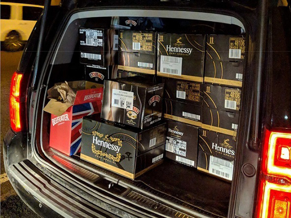 In December, New York tax department investigators seized 757 liters of untaxed liquor brought into the state in this vehicle.