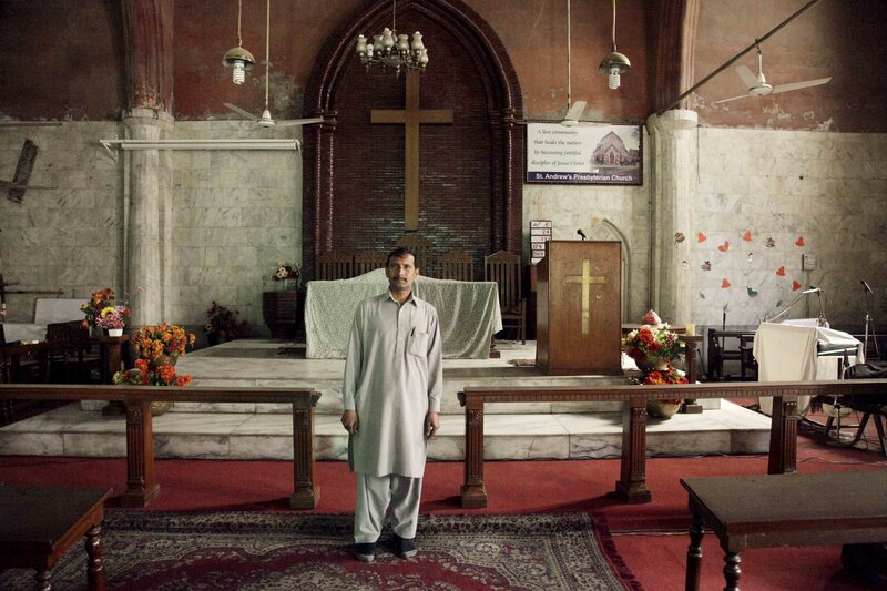 Salim Masih, the church caretaker,