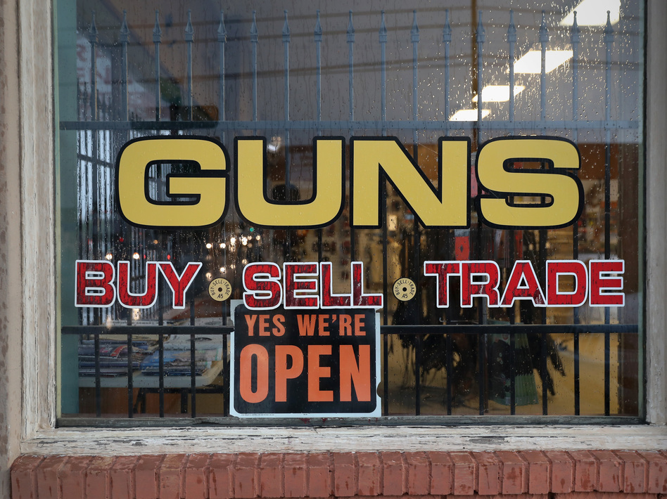 Current federal law only requires background checks for gun purchases from licensed gun dealers, but gun control advocates want to extend the law to include private gun sales, too. (John Moore/Getty Images)