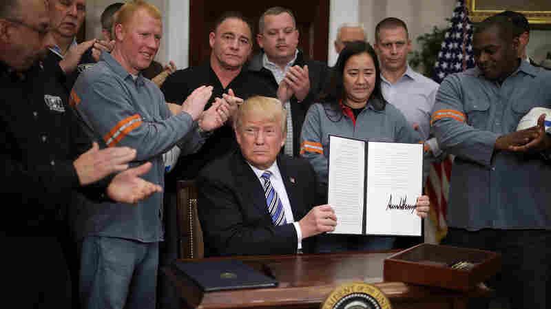 Trump Formally Orders Tariffs On Steel, Aluminum Imports