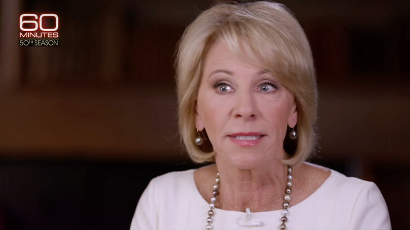 Devos Invested More Money In Brain >> A Rocky Appearance For Betsy Devos On 60 Minutes Npr Ed Npr