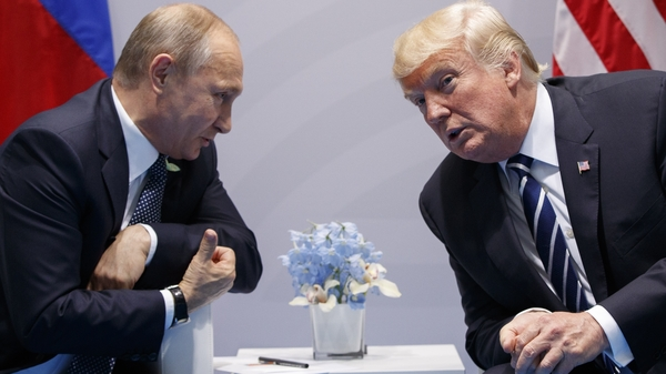 President Trump meets with Russian President Putin at the G-20 Summit in Hamburg, Germany on July 7, 2017.