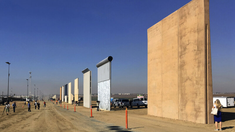 trump will visit u s mexico border to tout long promised wall the