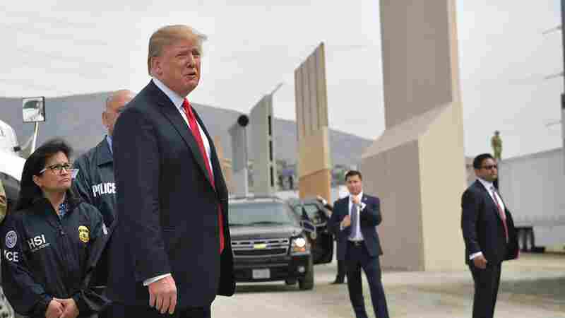 On Whirlwind California Trip, Trump Tours Border Wall Mockups And Talks Military