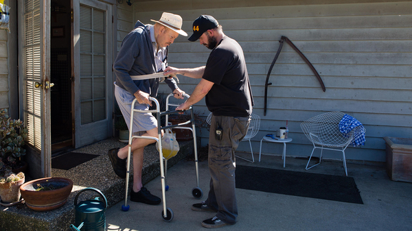 Leon Beers, a retired railroad engineer who lives near Sacramento, Calif., has a form of Parkinson