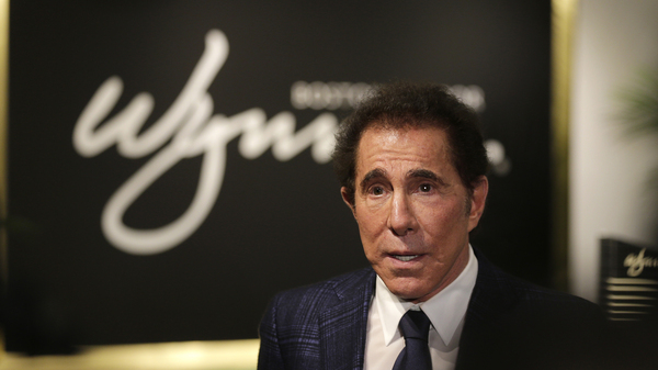 Casino mogul Steve Wynn takes part in a news conference in Medford, Mass., in 2016.