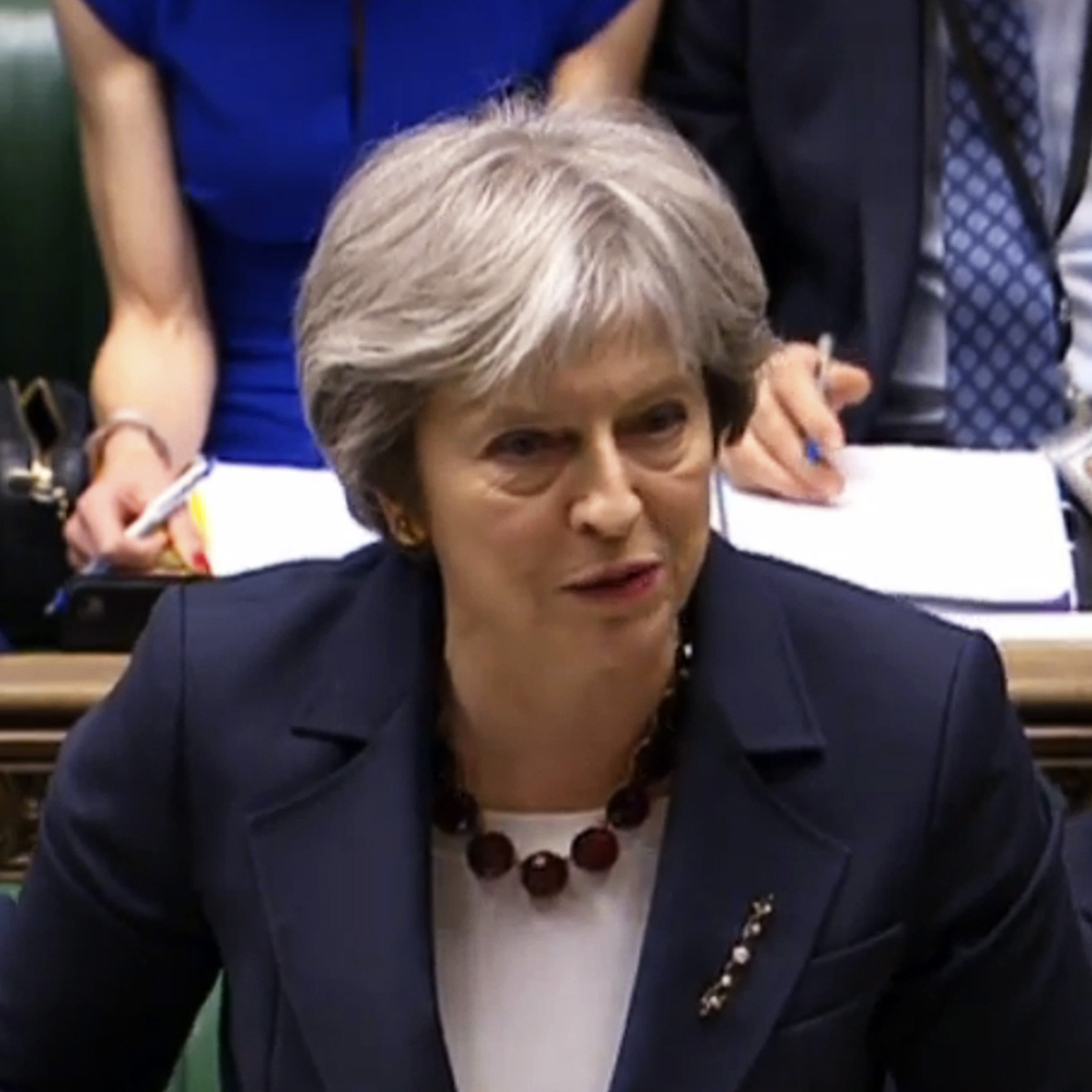U.K. Prime Minister Theresa May has said Russia is guilty of attempted murder on British soil