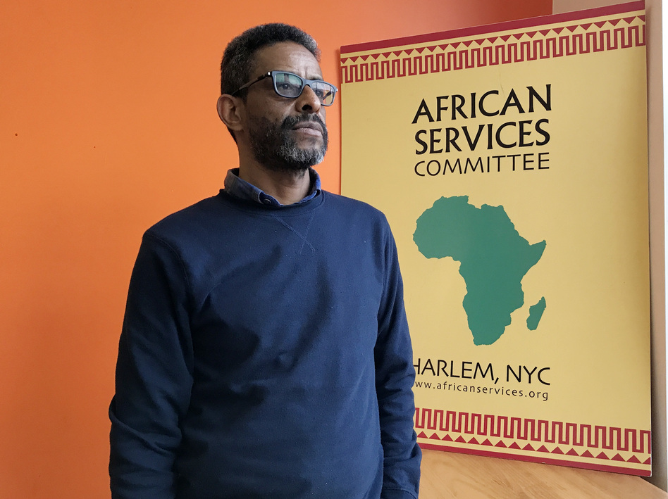 "Mulusew Bekele, director of program operations at African Services Committee based in New York City, supports the U.S. Census Bureau's efforts to collect more detailed data on black people's non-Hispanic origins on the 2020 census. ""The more refined data, the better for public policy,"" he says.<em></em> (Hansi Lo Wang/NPR)"