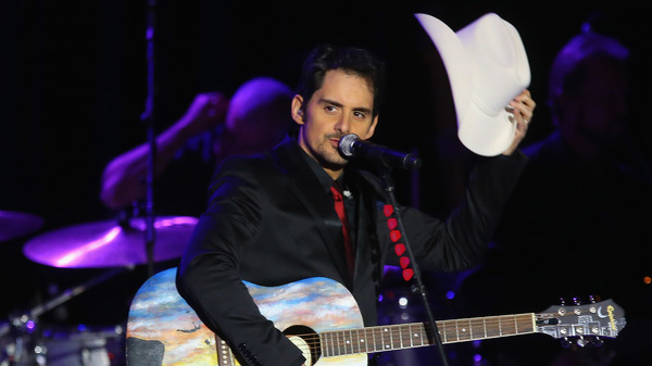 Brad Paisley performs at an inaugural ball for Barack Obama in January 2013. A few months later, Paisley