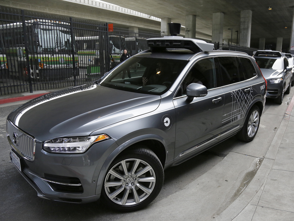 An Uber driverless car heads out for a test drive in San Francisco in December 2016, the same month that the company halted testing there and moved it to Arizona. (Eric Risberg/AP)