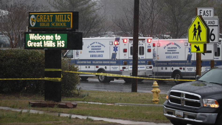 """The two victims have been taken to local hospitals. The male student, 14<strong>,</strong> is in stable condition, and the female student, 16, is in intensive care with """"life-threatening critical injuries,"""" authorities said. (Alex Brandon/AP)"""