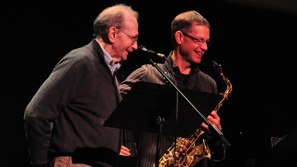 Poet Philip Levine (left) and saxophonist Benjamin Boone were both teaching at California State University, Fresno when they began working together on what would become The Poetry Of Jazz.