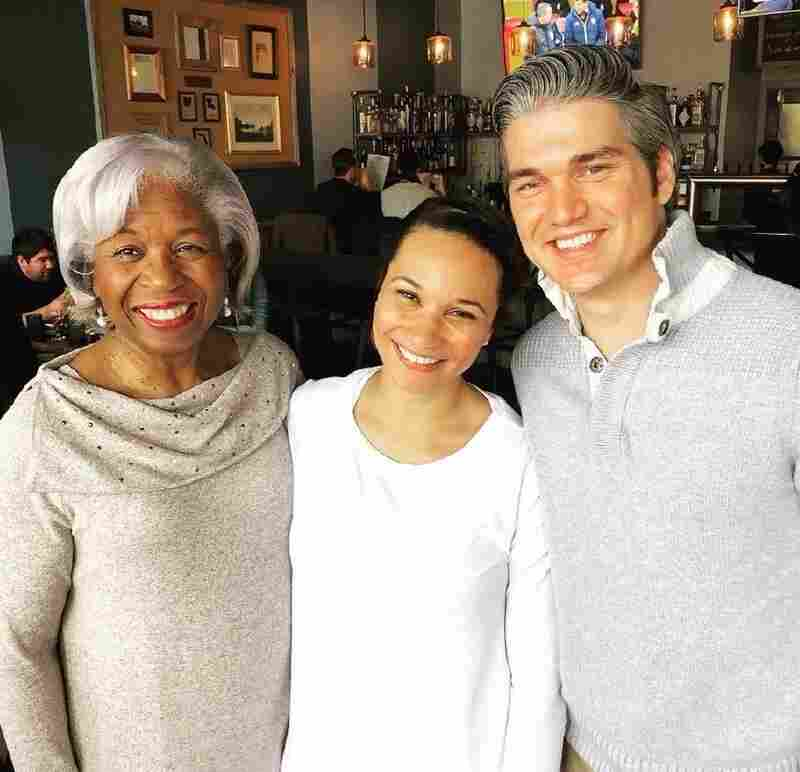 Kyle, Olivia and new mother-in-law celebrate at brunch.