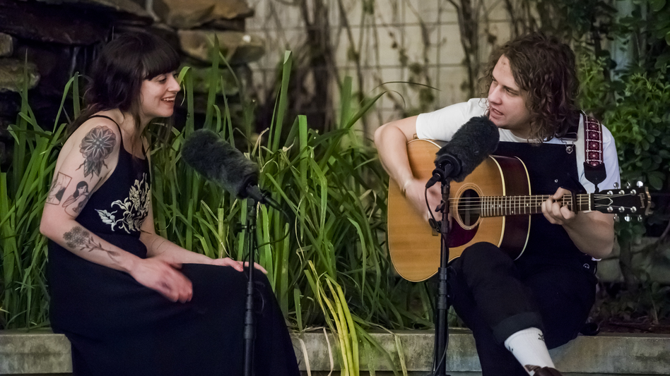 Kevin Morby (right) and Katie Crutchfield perform a South X Lullaby.