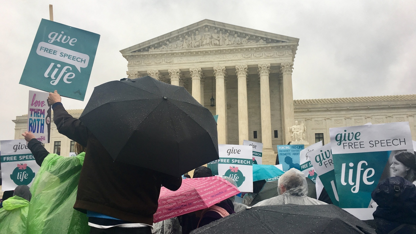 Justices Appear Skeptical Of Calif. Law Challenged By Anti-Abortion Centers
