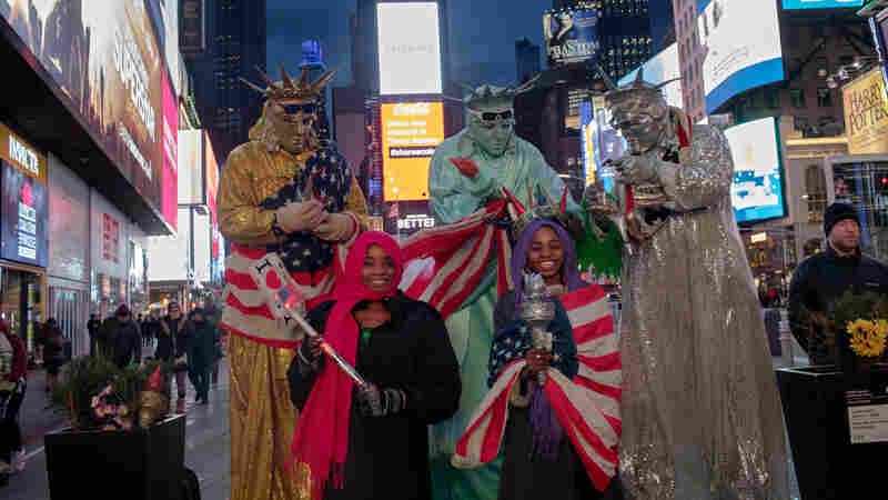 Abducted By Boko Haram, Now Posing With Lady Liberty In Times Square