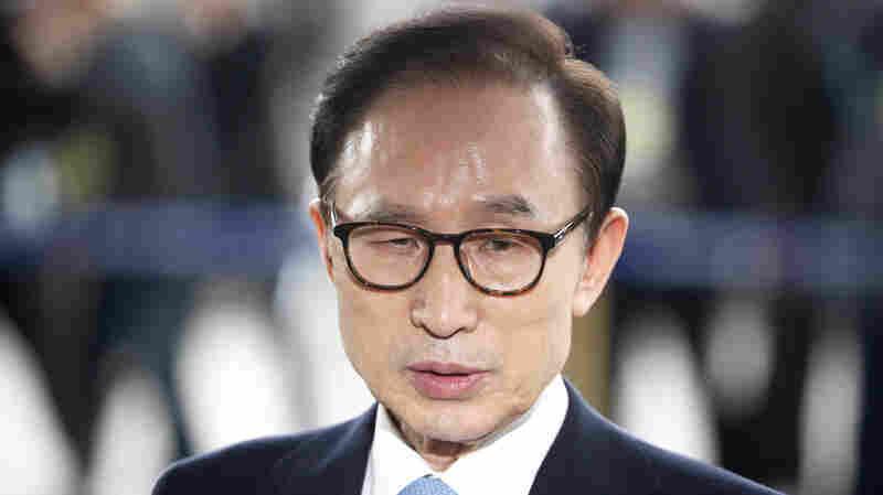 Former South Korean President Lee Myung-Bak Is Arrested On Graft Charges