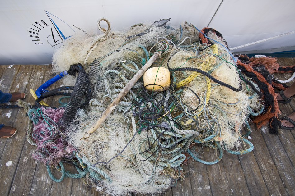 Trash and assorted garbage collected from the Great Pacific Garbage Patch, which has up to 16 times more plastic in it than previously thought. (UniversalImagesGroup/UIG via Getty Images)