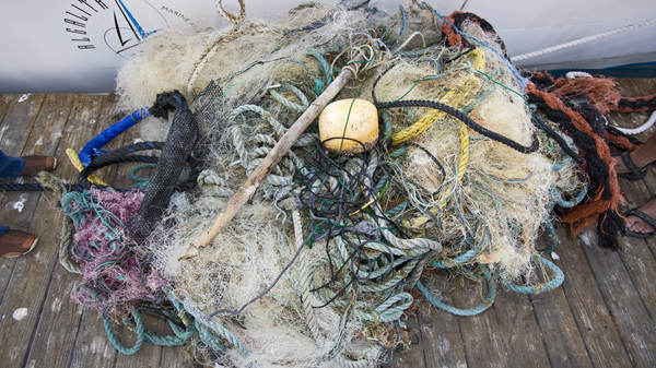 Trash and assorted garbage collected from the Great Pacific Garbage Patch, which has up to 16 times more plastic in it than previously thought.