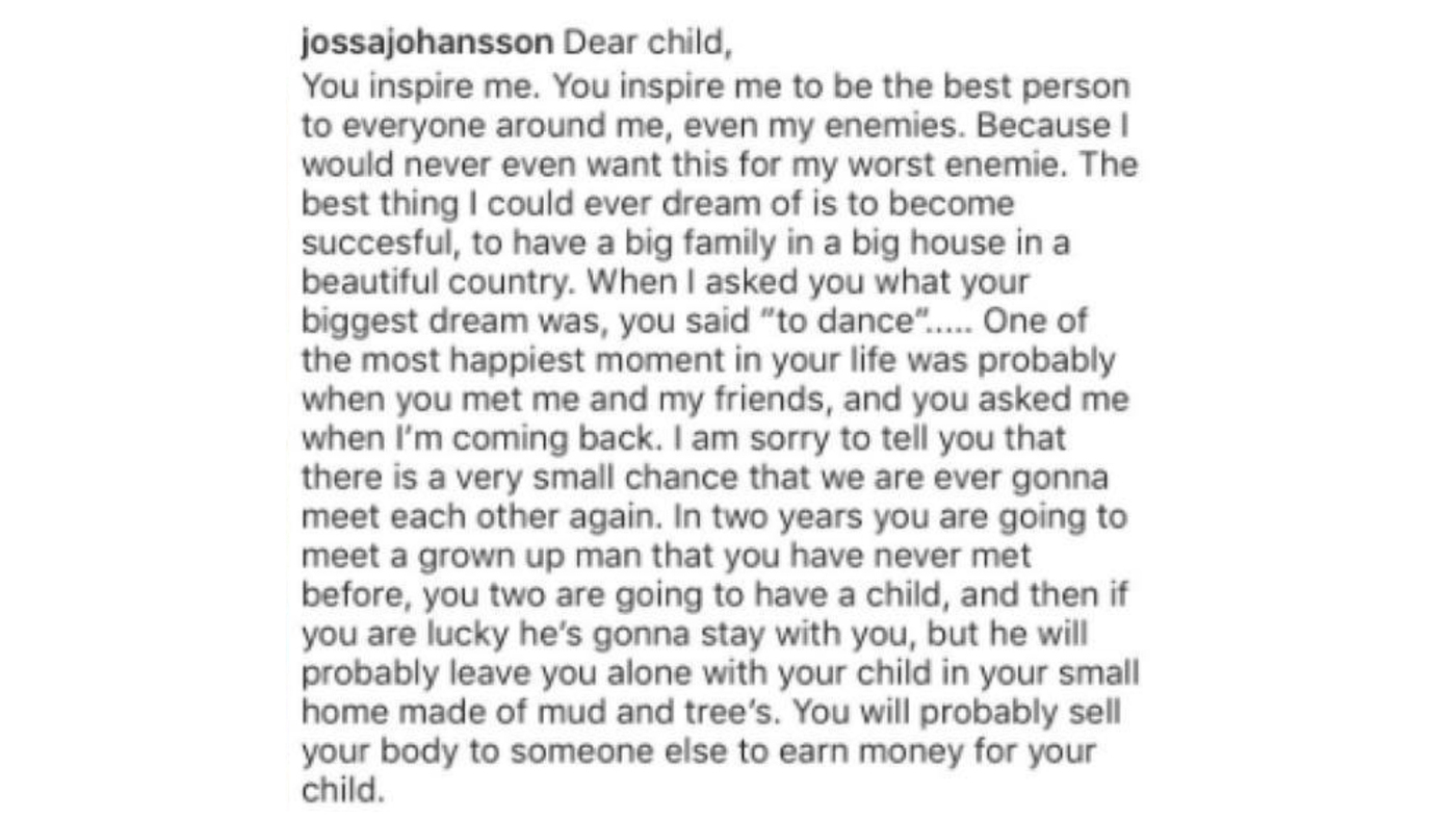 Woman's Instagram Post About Kenyan Child Ignites Fury About 'White