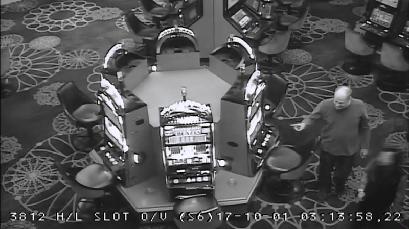 Paddock shown at the casino slots at the Mandalay on Oct. 1, the day of the shooting.