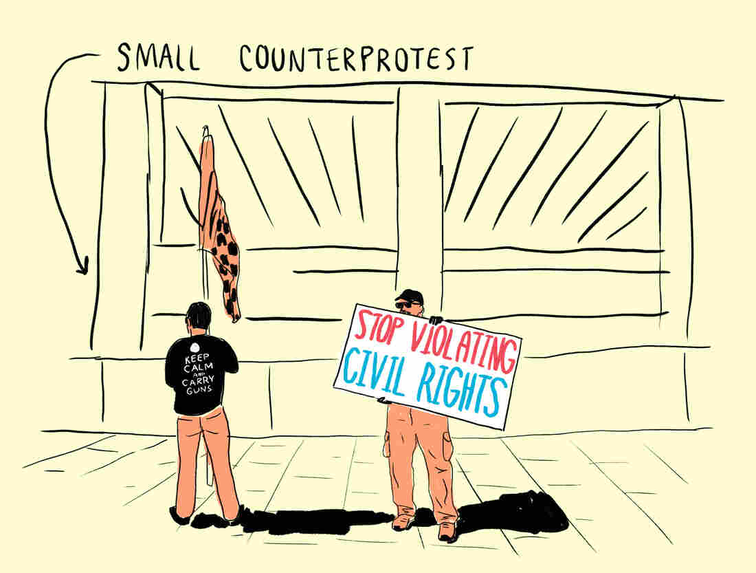 Small counterprotest