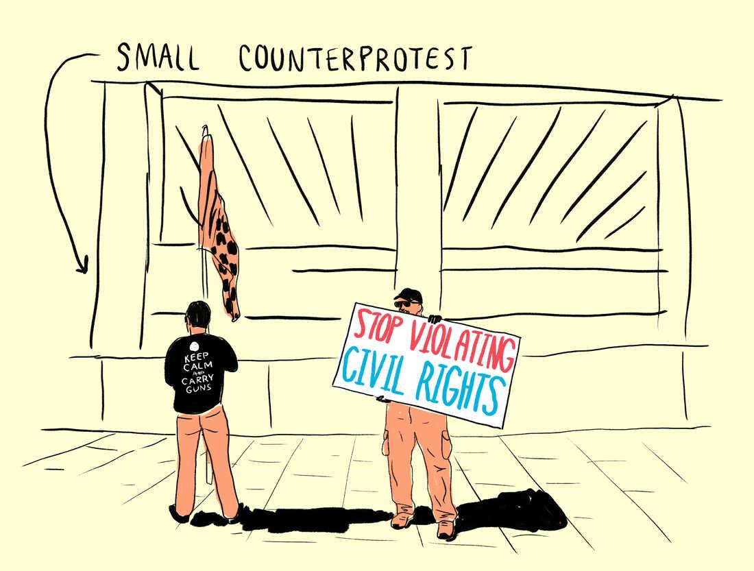 Small counterprotest