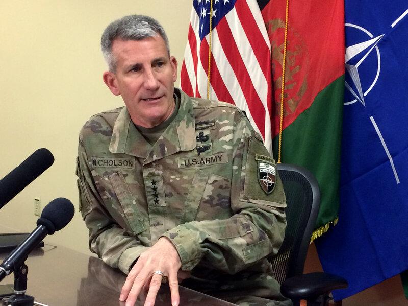 Top U S  Commander In Afghanistan Accuses Russia Of Aiding
