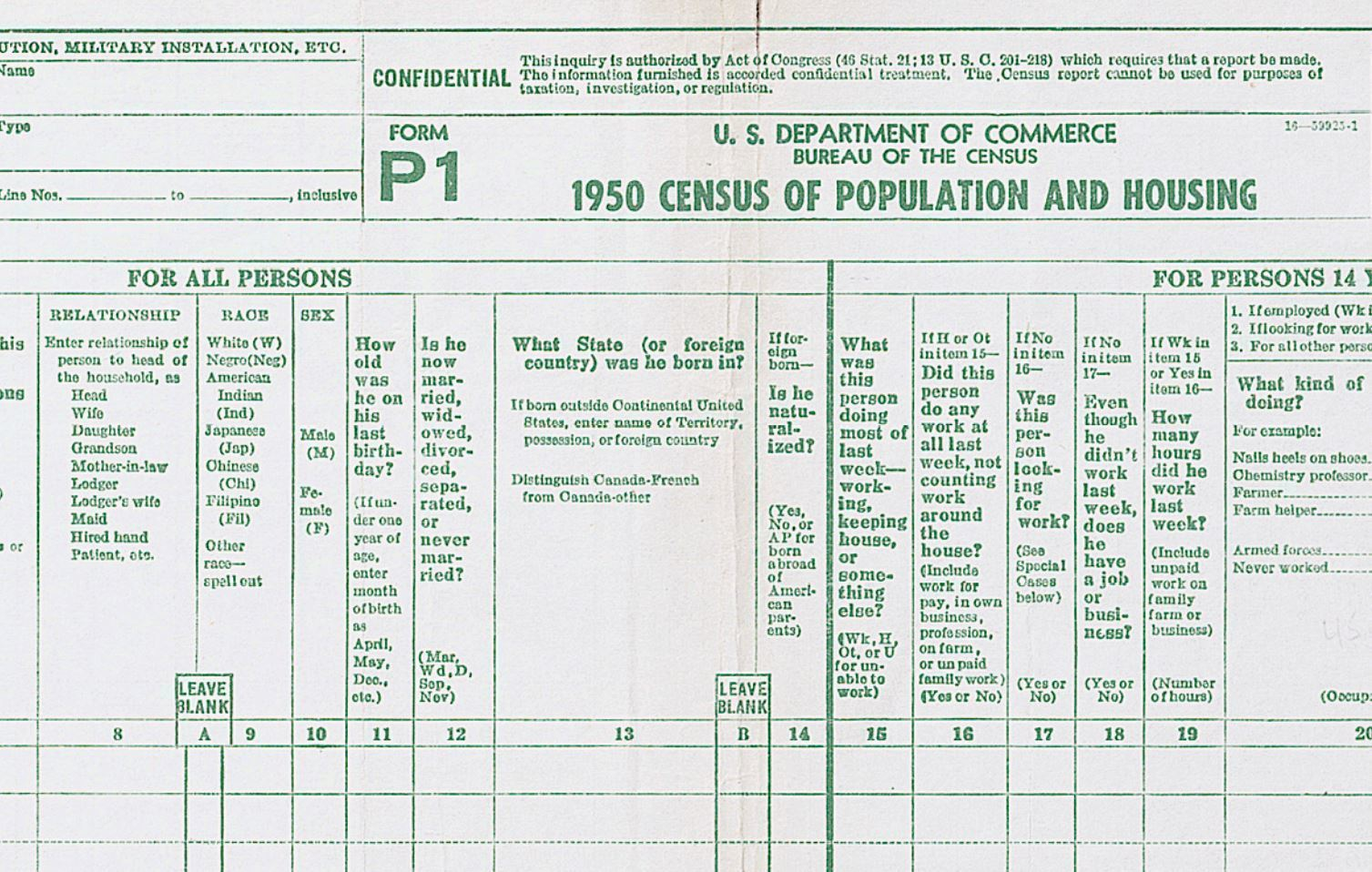 Fact check has citizenship been a standard census question ncpr news the 1950 census form asked where respondents were born and whether they were naturalized falaconquin