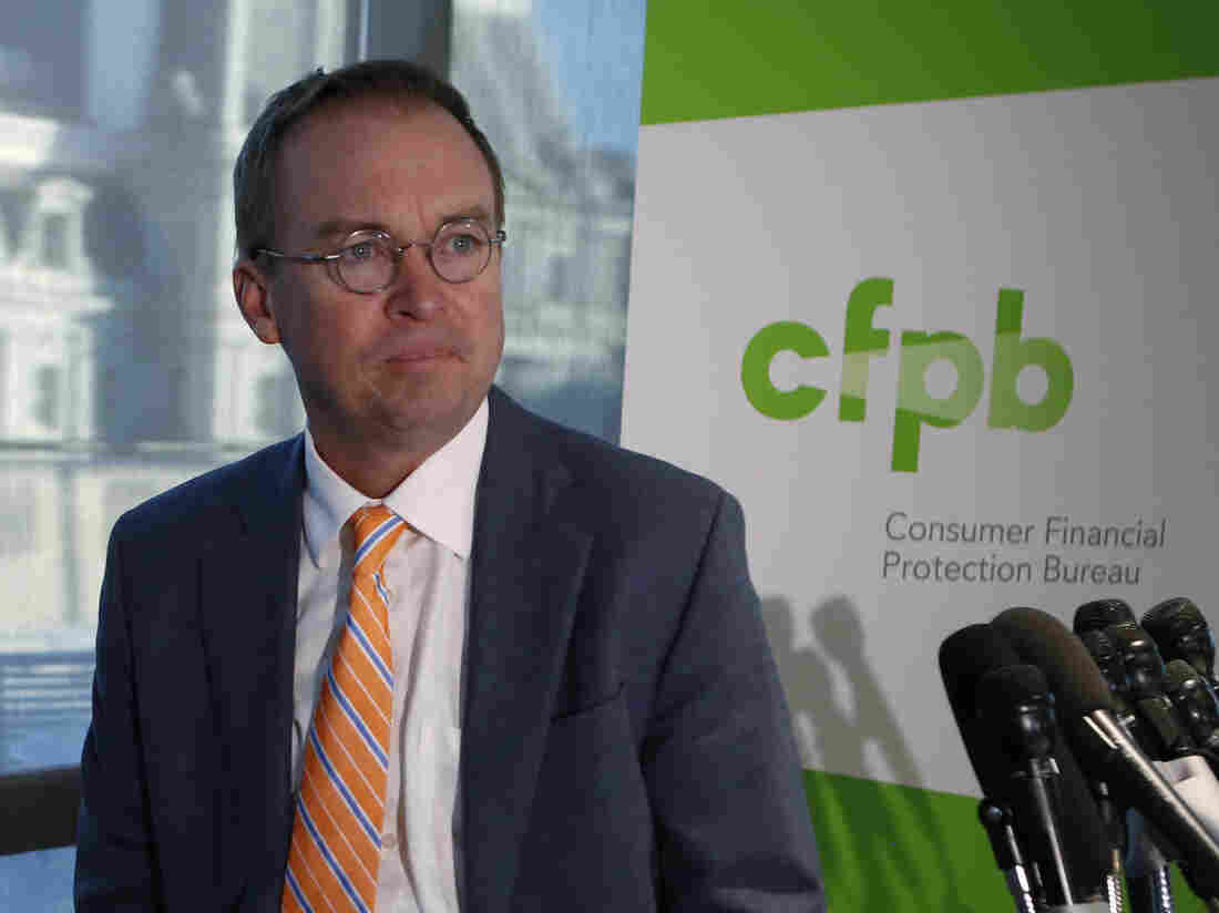 Proposed cuts in funding for the Consumer Financial Protection Bureau come amid questions about Trump appointee Mick Mulvaney softening the agency's stance on payday lenders.
