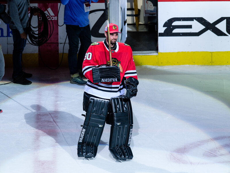 Blackhawks Called In An Accountant As Emergency Goalie — And He ... c965307e953
