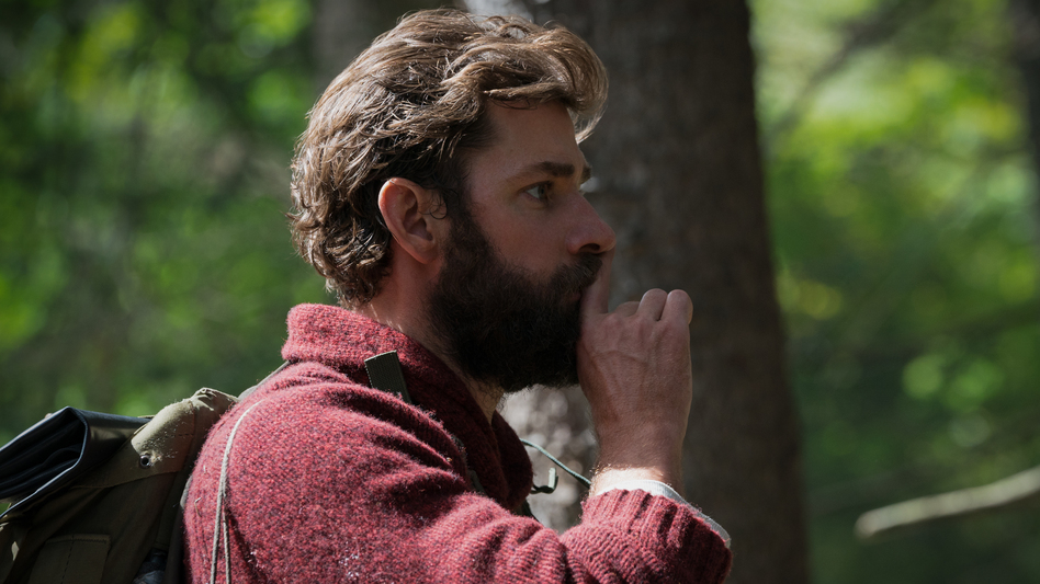 Quiet On The Set Piece: John Krasinski directs, co-stars, and co-writes <em>A Quiet Place</em>, a thriller that leverages silence for scares. (Jonny Cournoyer/Paramount Pictures)