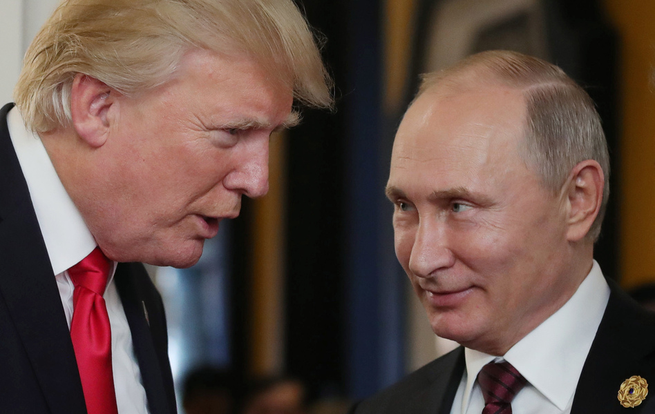 The President Trump that might meet soon with Russian President Vladimir Putin is in a very different political position than the one who last talked with him face-to-face. (Mikhail Klimentyev/Getty Images)