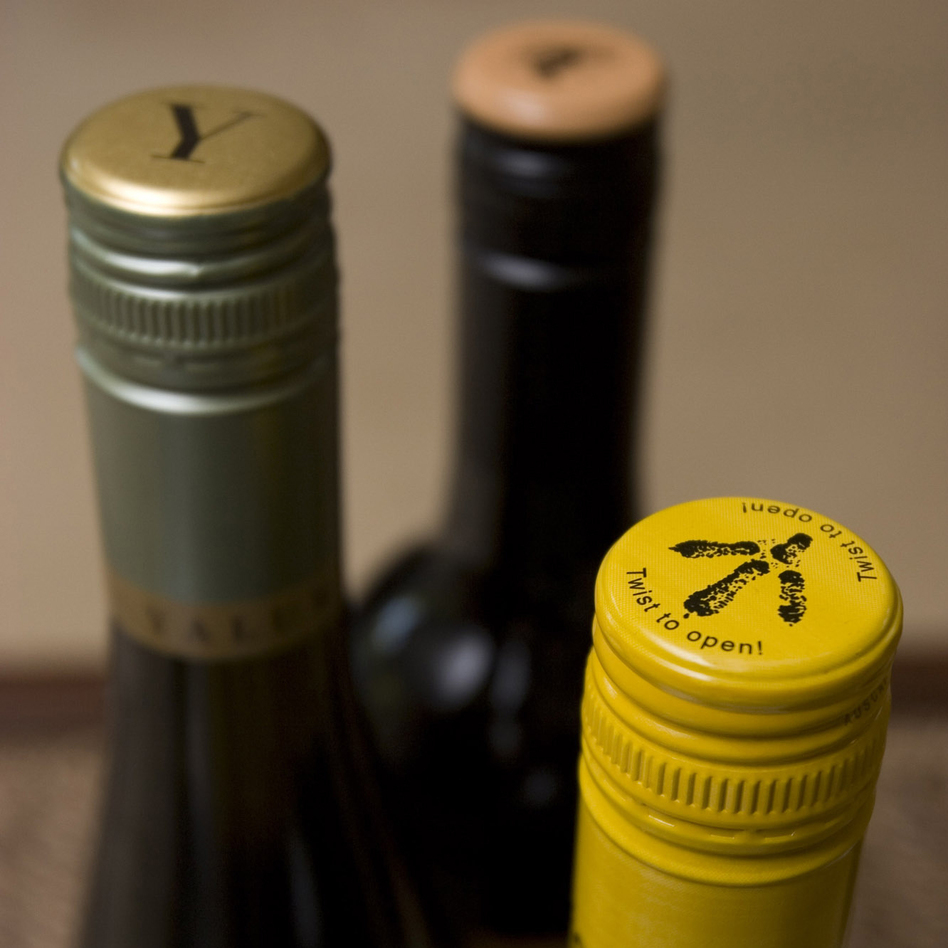A variety of Australian wines with metal screwcaps are seen in a 2007 photo. (Larry Crowe/AP)