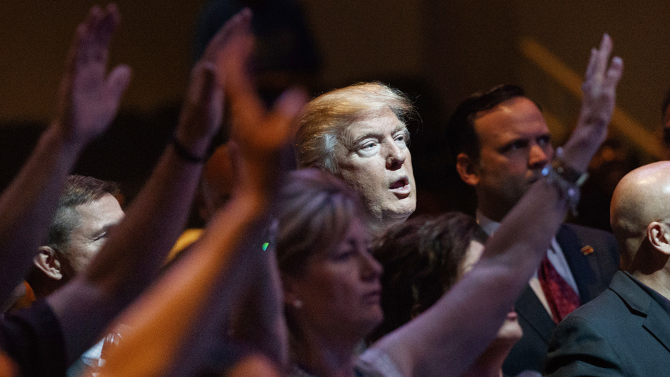 White evangelicals fueled Donald Trump's campaign, but some worry about recent sex scandals and the effect they could have on the midterms. (Evan Vucci/AP)