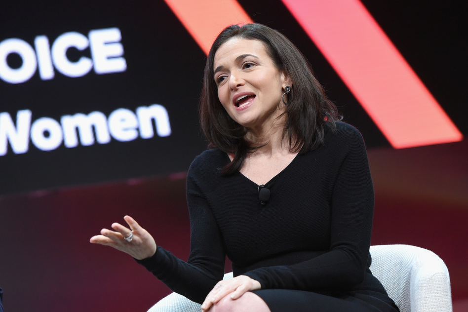 Facebook Chief Operating Officer Sheryl Sandberg speaks during the 2018 MAKERS Conference on Feb. 6 in Los Angeles. (Vivien Killilea/Getty Images for MAKERS)