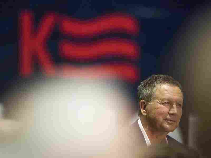 Ohio Gov. and Republican presidential candidate John Kasich speaks at a town hall meeting in Ohio in 2016.