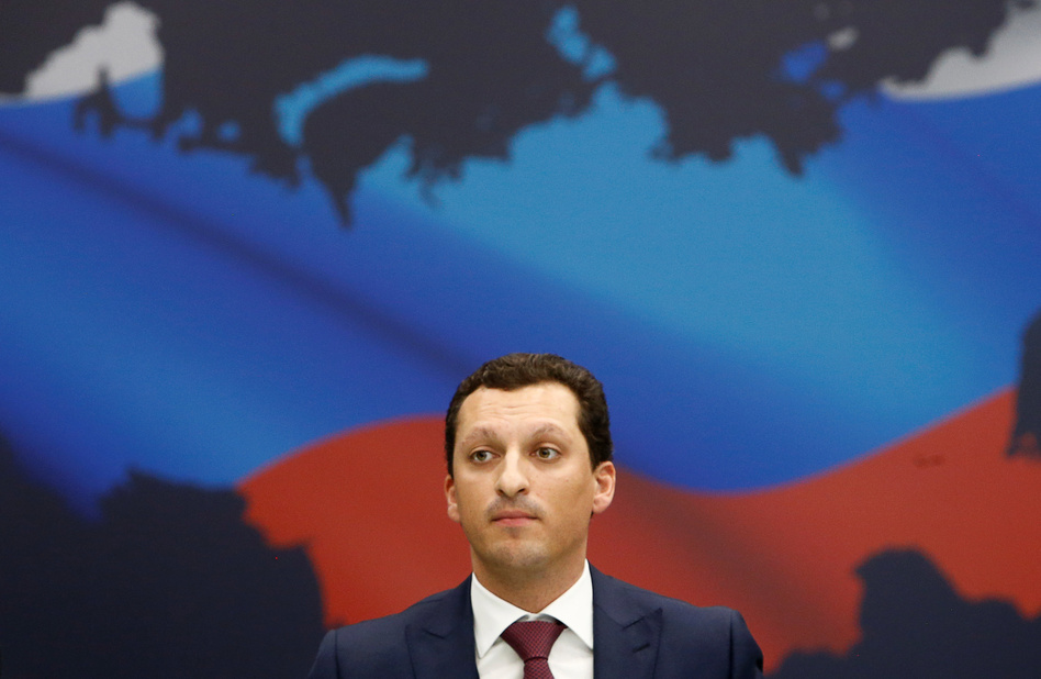 Kirill Shamalov, Russian President Vladimir Putin's son-in-law, is included in new U.S. sanctions. He's seen here in 2016. (Sergei Karpukhin/Reuters)