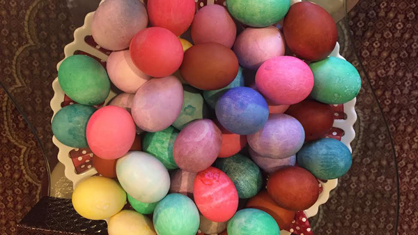 Like other spring holidays, Sere Sal, the Yazidi new year, is about fertility and new life. An ancient Kurdish religious minority, the Yazidis color eggs for the holiday in honor of the colors that Tawus Melek, God