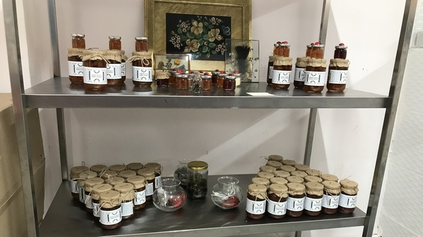 "Some of the jams and preserves made by the ""Women"
