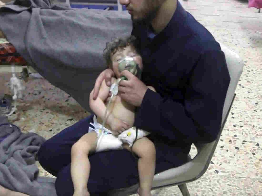 Syrians showed signs of chemical attack