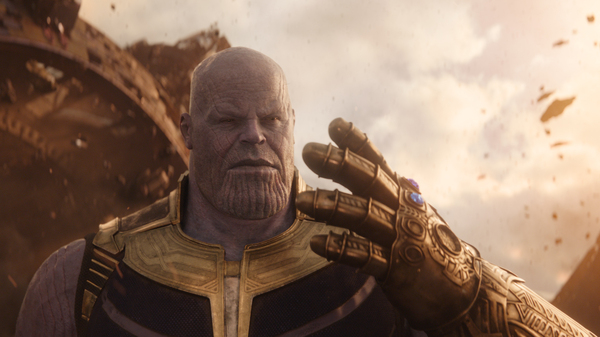 Ya Got The Stones For This?: Thanos (Josh Brolin) blithely ignores Coco Chanel