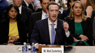 Facebook co-founder, Chairman and CEO Mark Zuckerberg testifies before a combined Senate Judiciary and Commerce committee hearing in the Hart Senate Office Building on Tuesday.
