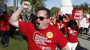 Arizona Teachers 'Walk-In' To Protest Low Pay And Low Funding