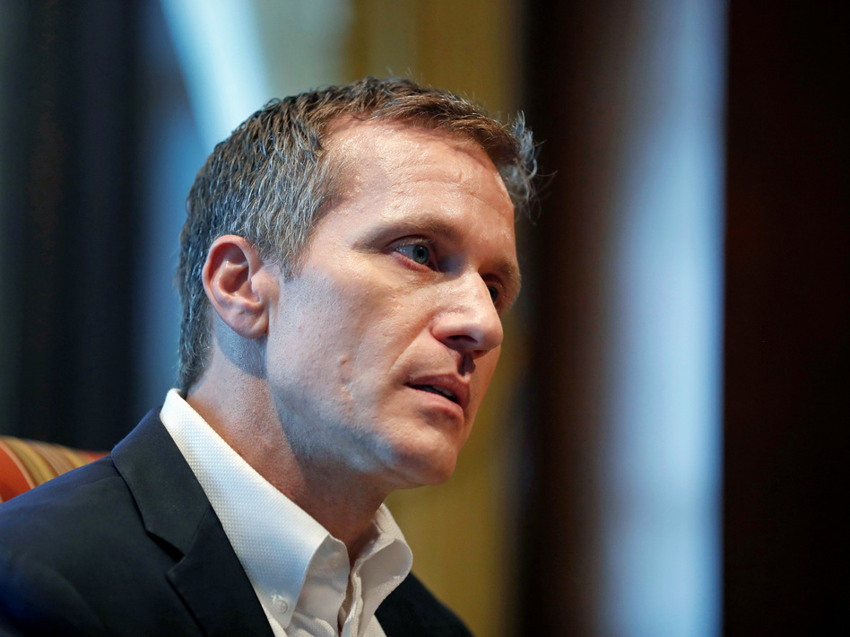 Missouri Gov. Eric Greitens admitted that before taking office he had an extramarital affair but he denies abusing the woman. (Jeff Roberson/AP)