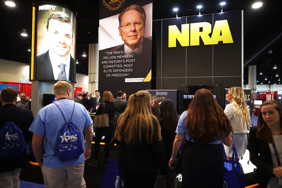 The National Rifle Association, which exhibited at the Conservative Political Action Committee conference, has acknowledged it has more Russian contributors than it previously did. (Chip Somodevilla/Getty Images)