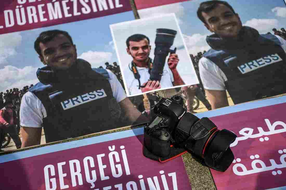 killed palestinian journalist had passed u s screening for grant