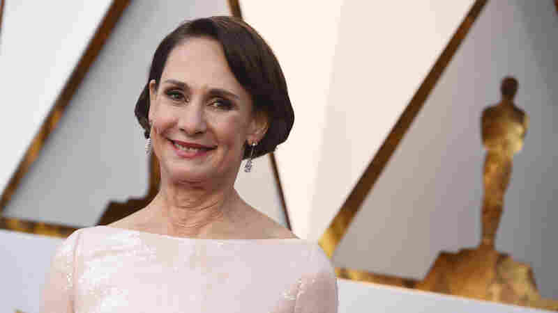 Laurie Metcalf arrives at the Oscars on March 4, 2018, at the Dolby Theatre in Los Angeles.