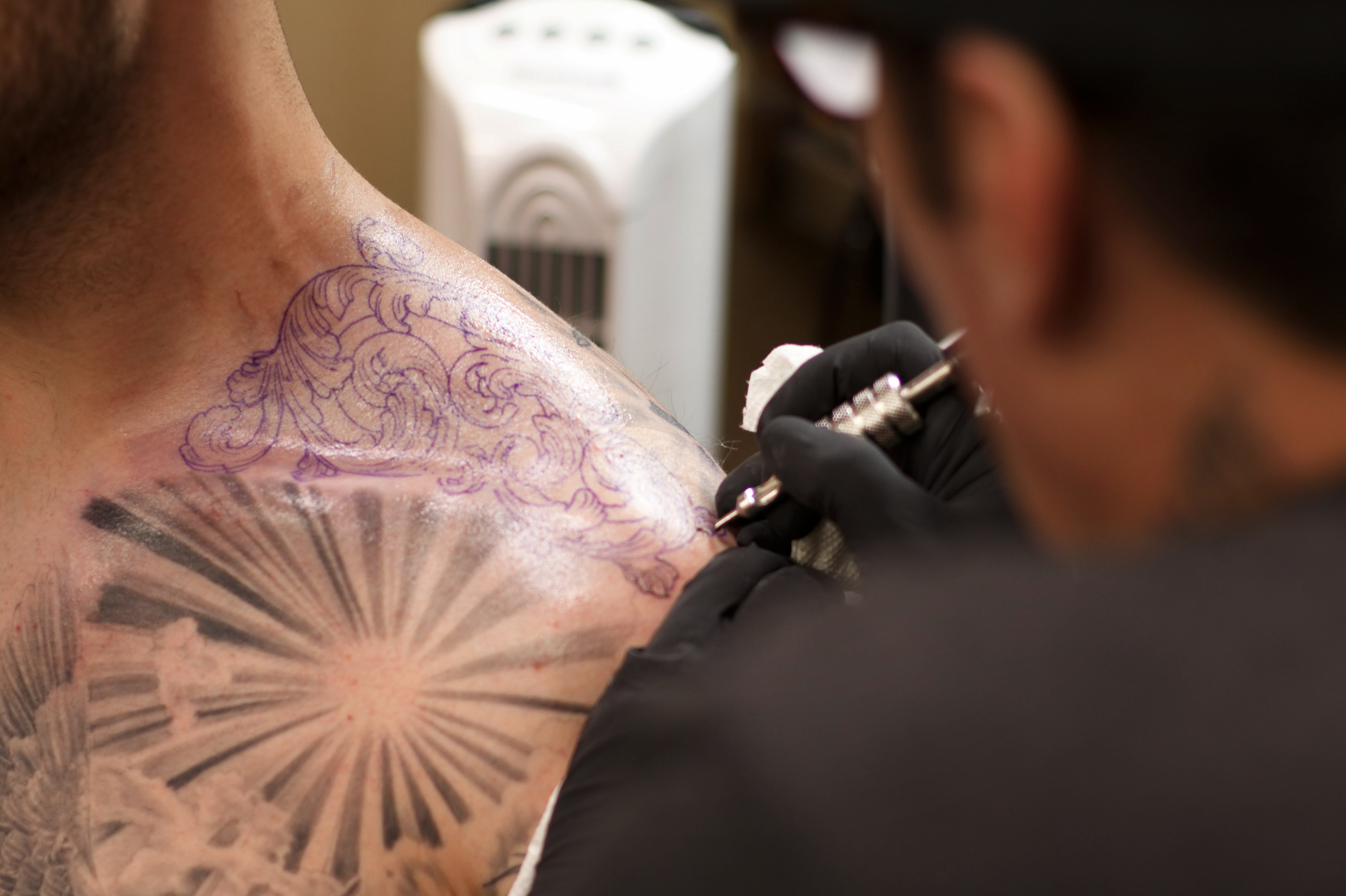 Black And Gray And Brown A Tattoo Style S Chicano Roots Code Switch Npr