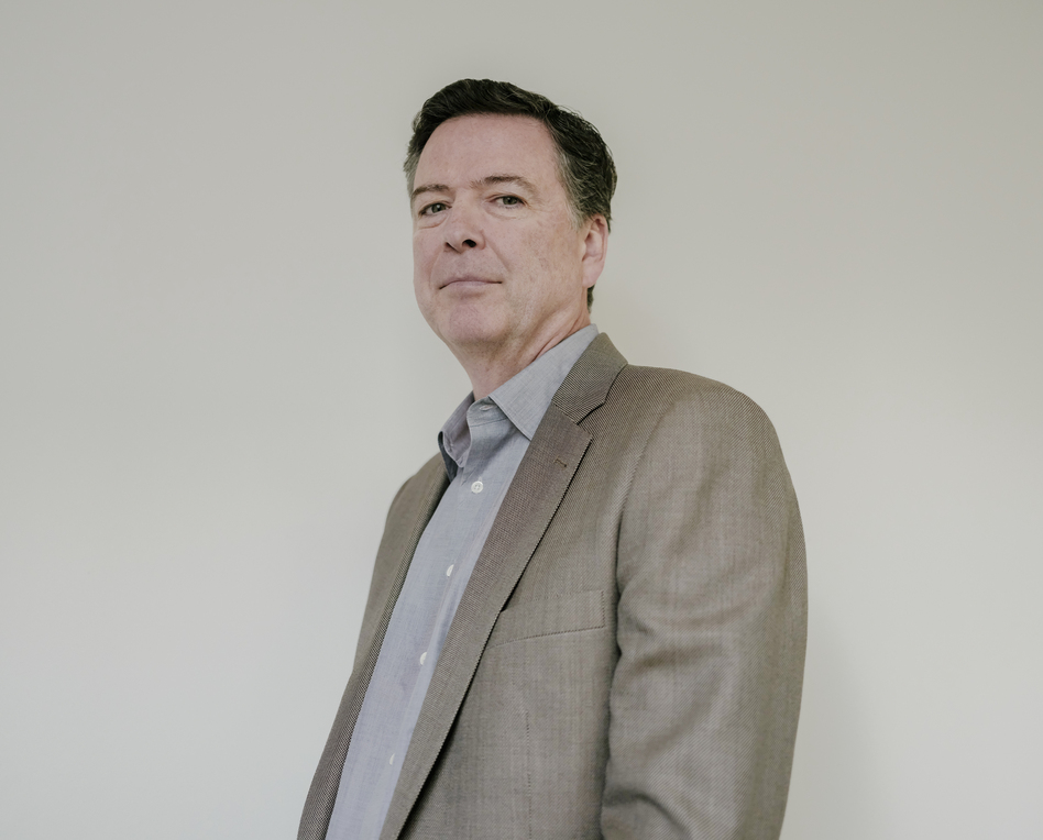 James Comey at NPR's New York bureau. (Elias Williams for NPR)
